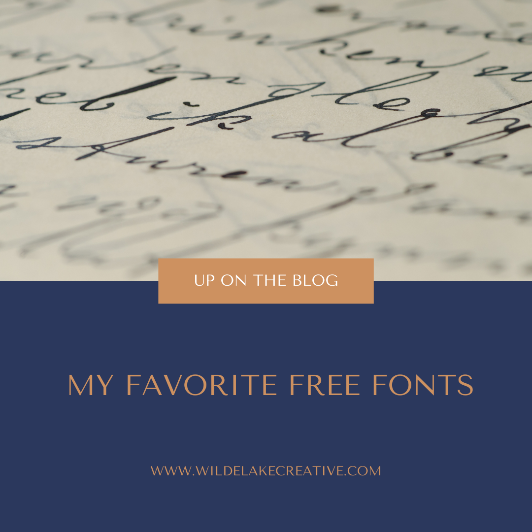 10 of My Favorite Free Fonts